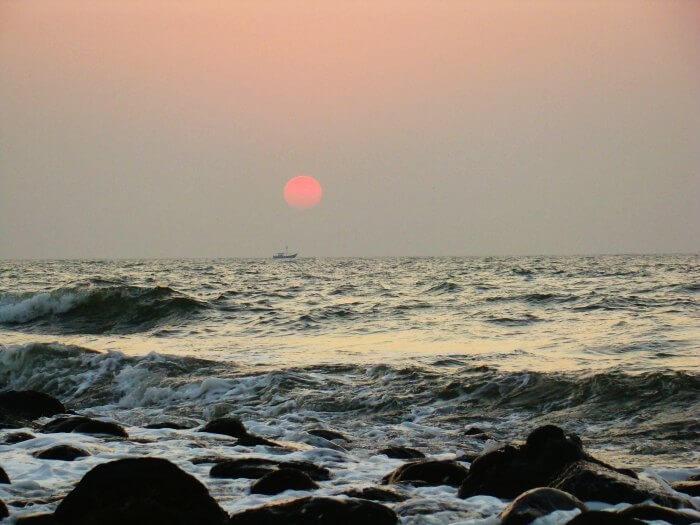 Sunset at Alibaug beach