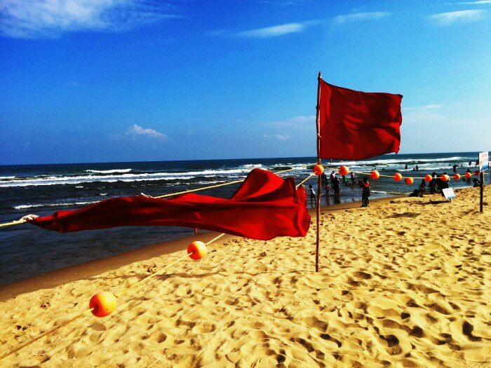 One of the most famous beach in India; Auroville Beach