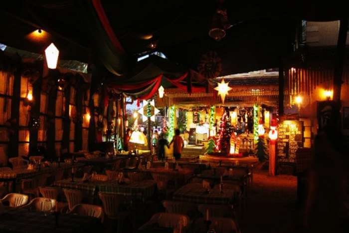 Dine by the beach at Brittos on Baga beach in Goa