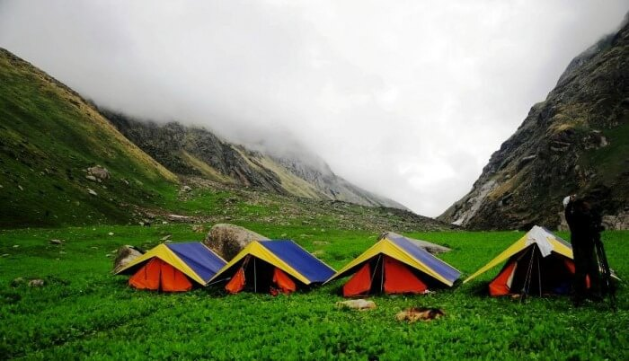 Stay in tent camp in kasol