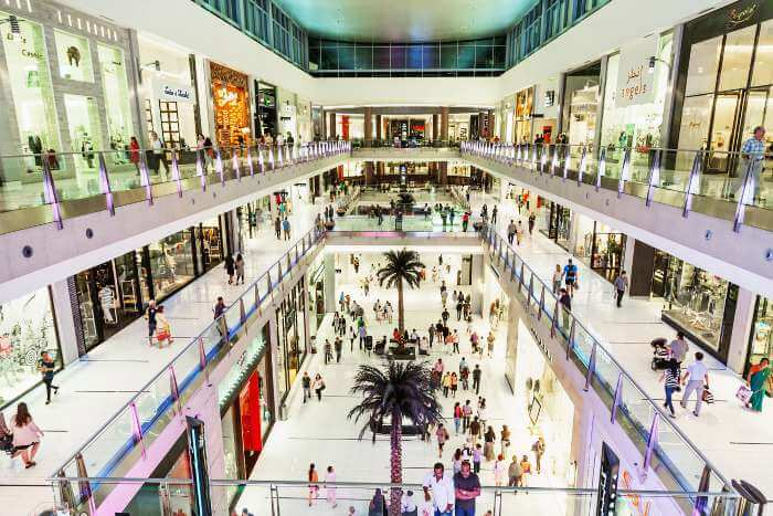 Dubai Mall is the largest among shopping malls in Dubai and in the world