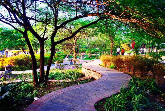 Garden of five senses; one of the romantic places to visit in Delhi