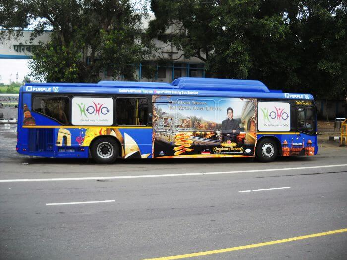 HoHo tourist bus stop in Delhi