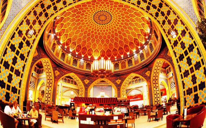 Ibn Battuta is the largest among themed shopping malls in Dubai and the world