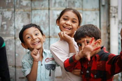 Happy little kids in Ahmedabad