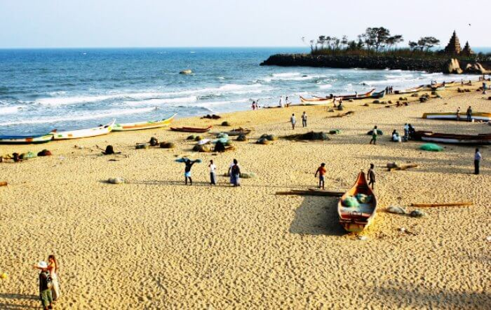 One of the top beaches in India, Mahabalipuram beach