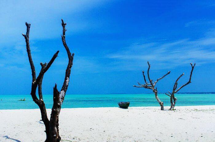 A dreamy scene of the Minicoy Island in Laccadive Islands