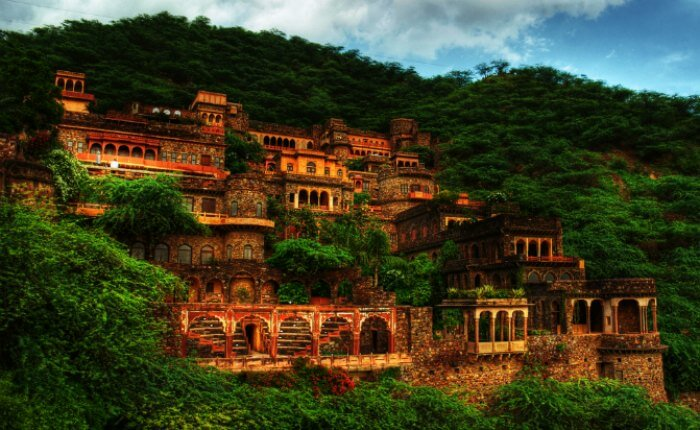 Neemrana Fort in monsoon