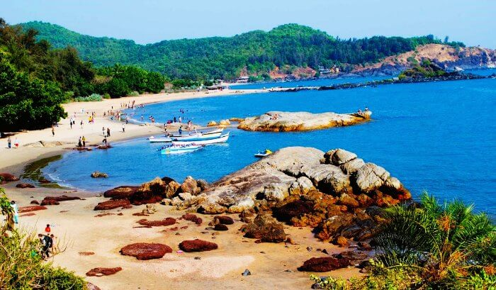 One of the most famous beaches in India, Om Beach in Gokarna