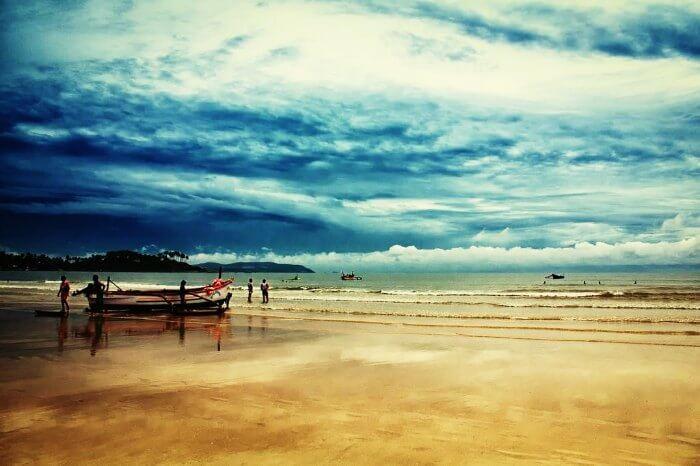 The pristine Palolem Beach in Goa