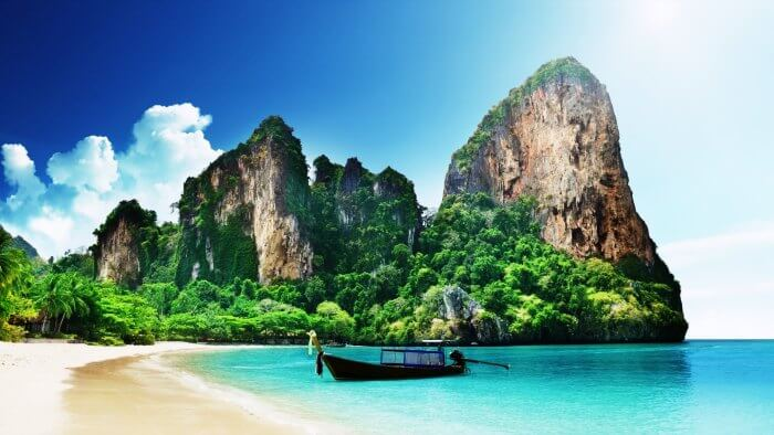 The beautiful Railway beach in Thailand