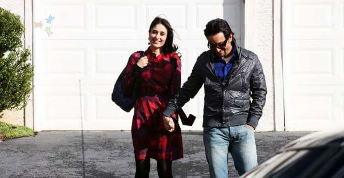 Saif and Kareena in Kareena's favorite Gstaad