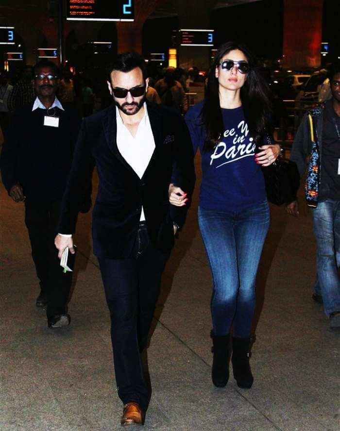 Saif and Kareena in the city of love, Paris