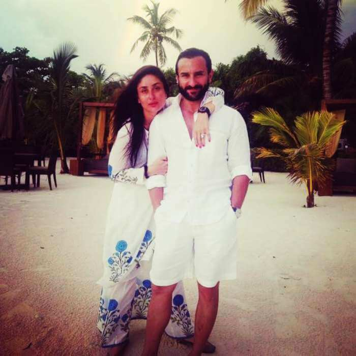 Saif and Kareena in Maldives for family vacation