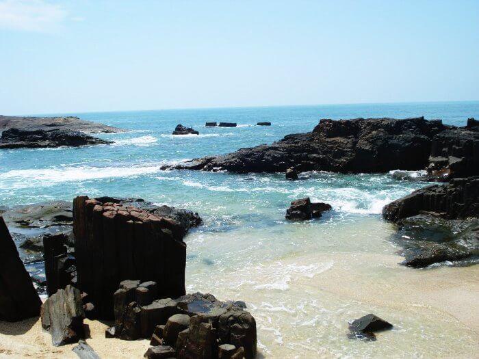 The unique volcanic rocks of St. Mary's Island in Karnataka