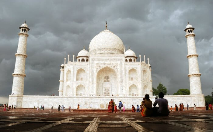 Taj Mahal in Agra, one of the best weekend getaway from Delhi in monsoon