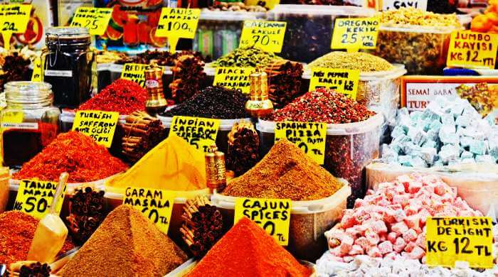 Display of spices at The Egyptian Bazaar
