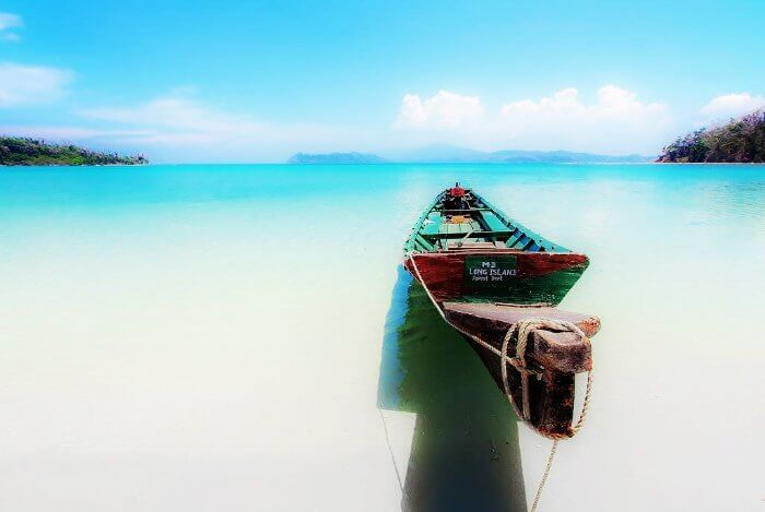 A spectacular scene of the Merk bay Beach in Andaman