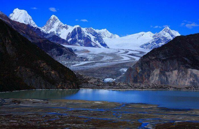 The view of Pangong Tso of Aksai Chin