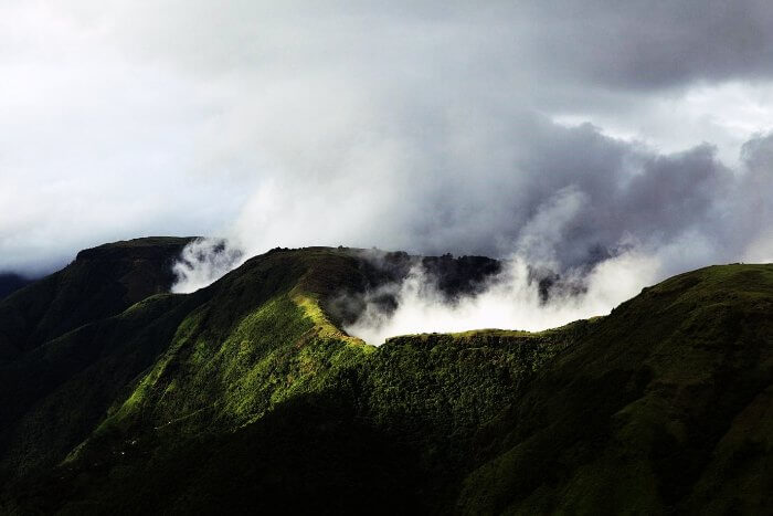 Misty hills of Silent valley national park