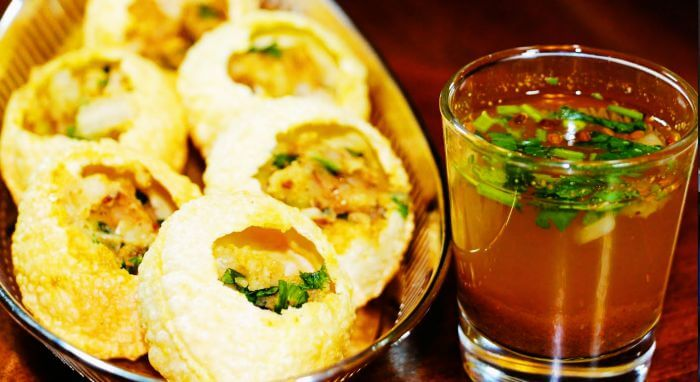 A plate of delicious Golgappe