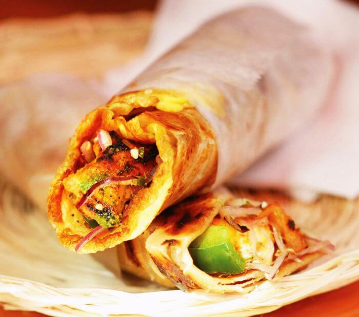 Amazingly rolled street food of Delhi — Rolls