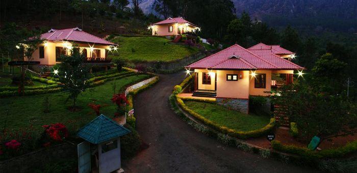 A romantic view of the Aranyaka resort