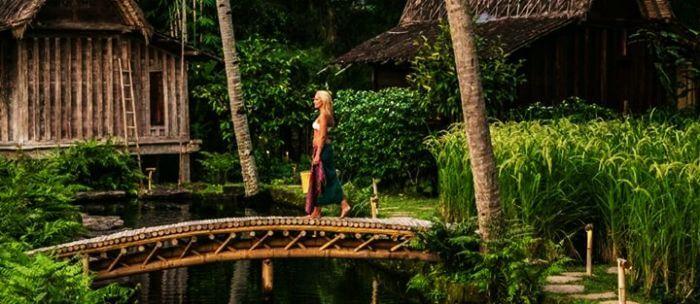 Bambu Indah is a luxury water villa in Bali