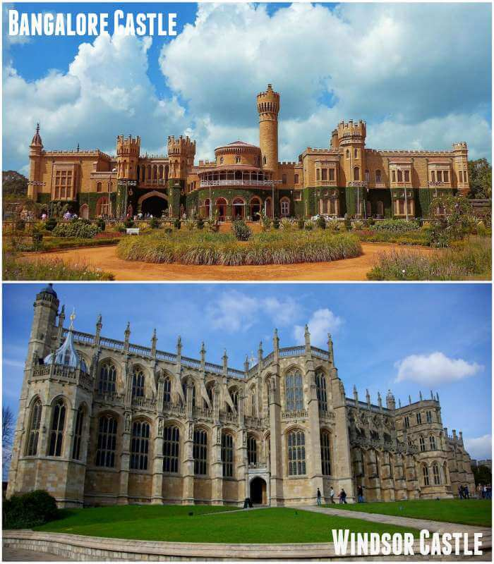 Bangalore Castle is said to be inspired by Windsor Castle in England