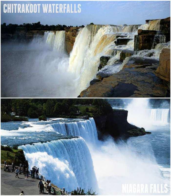 similar falls of niagara and chitrakoot