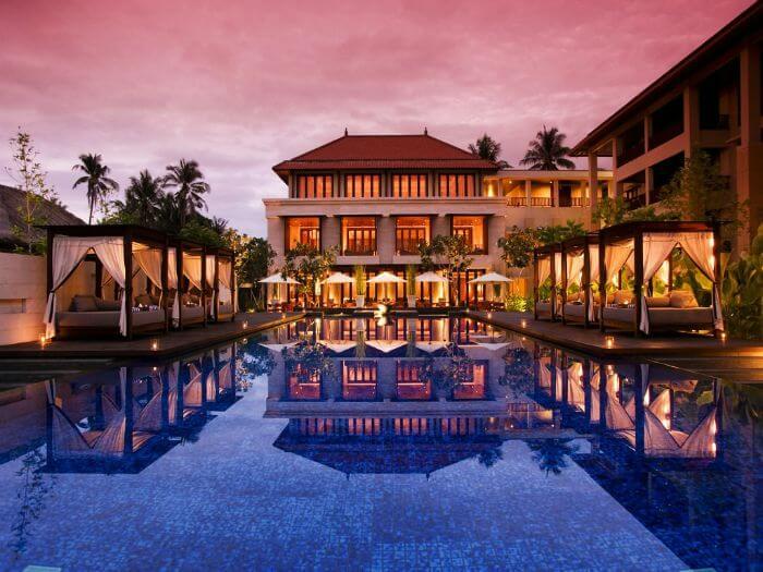 Captivating water bungalows at Conrad Bali resort in Tanjung Benoa