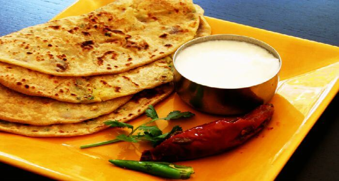 Famous food in Delhi — Paratha