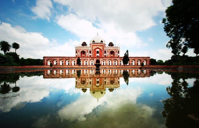 A rare view of Humayun's Tomb, Delhi.