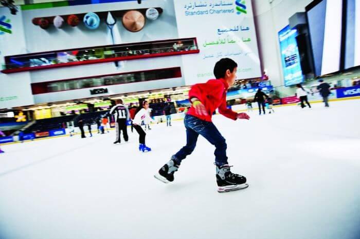 Ice sketing in Dubai