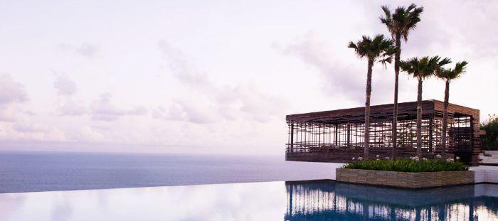 A gorgeous view of the breathtaking pool at Alila Villas Uluwatu in Desa Pecatu