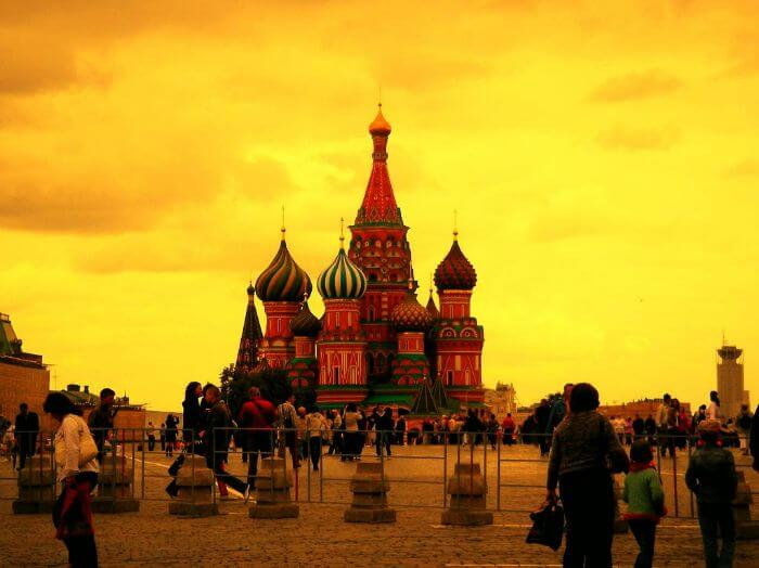 Moscow city square