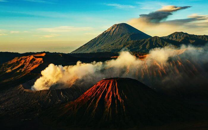 Mount Bromo is home to an active volcano - which makes it one of dangerous, yet most beautiful places in Indonesia
