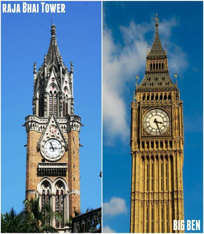 Rajabhai tower in Mumbai and Big Ben in London are look alike