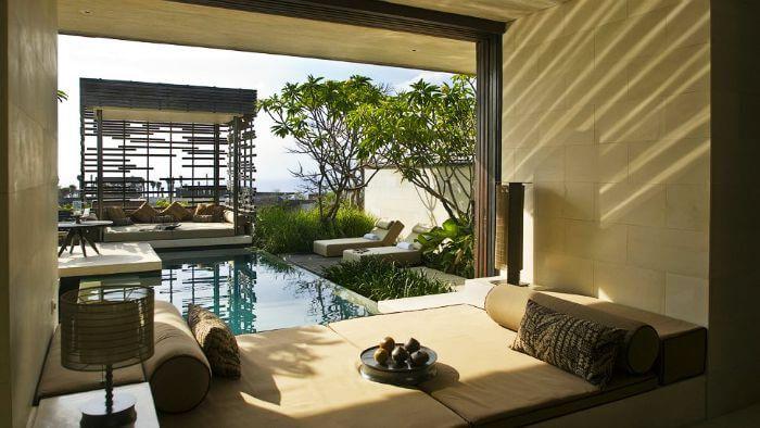 Unwind by the pool at Alila Villas Uluwatu in Bali