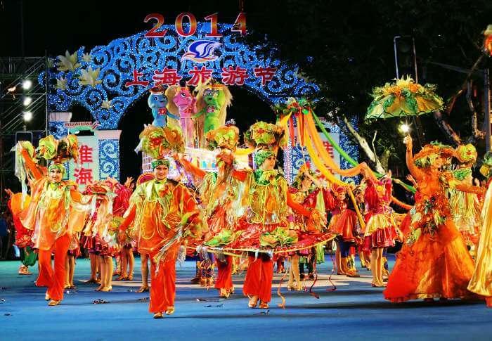 Spectacular carnival in Shanghai
