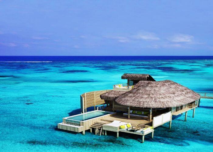 Luxury over water villa at Six Senses Laamu