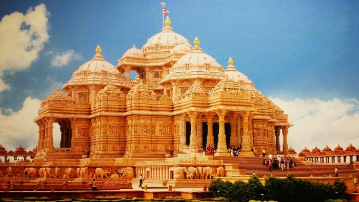 The Grand Akshardham Temple is a perfect example of symmetries in modern architecture.