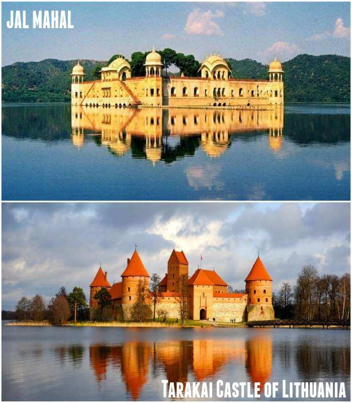 jal mahal and Tarakai Castle are look alike