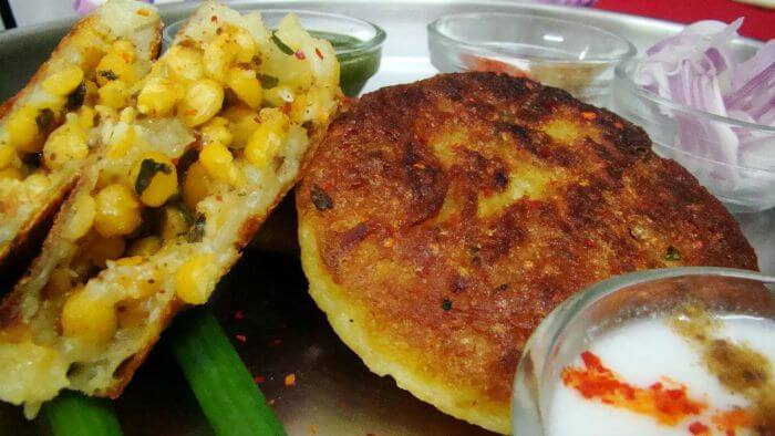 The appetizing Aloo Tikki
