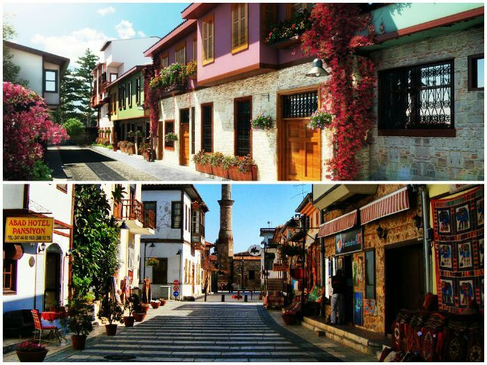 Colorful streets at the old town of Kaleici