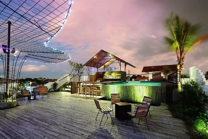 Enjoy nightlife in Bali as you chill at Vertical point- the most amazing rooftop bar in Bali