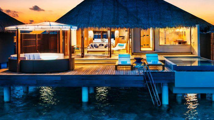 W Retreat & Spa's Ocean Lagoon is among the most beautiful water villas in Maldives