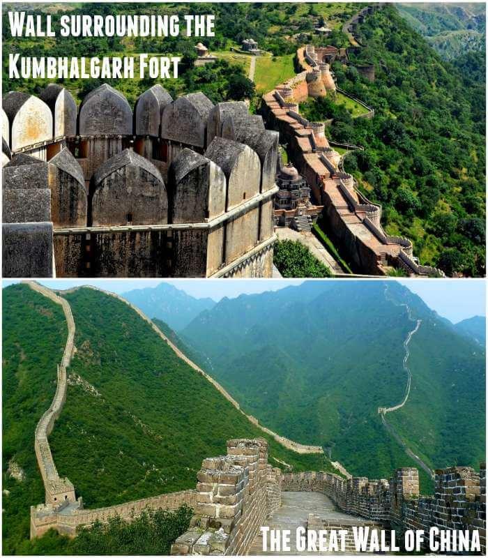Wall surrounding the Kumbhalgarh Fort-The Great Wall of China