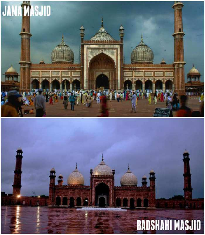 two similar looking mosque