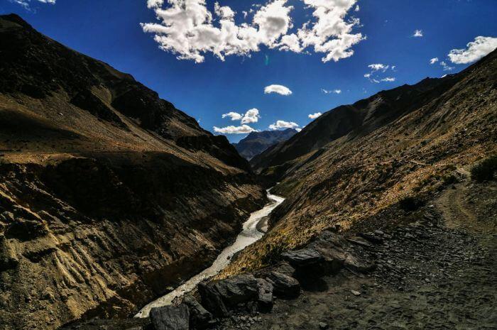 Part of Padum-Darcha trekking in Ladakh